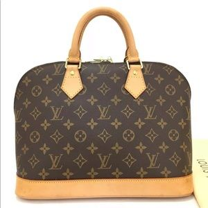 Louis Vuitton Monogram Alma Hand Bag + Duster